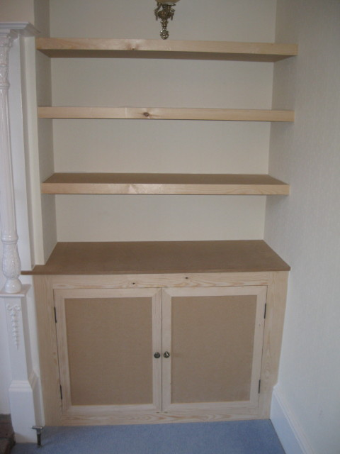 cupboard and shelves