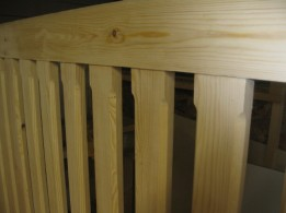 detail of a bed frame