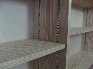detail of shelves by joiner