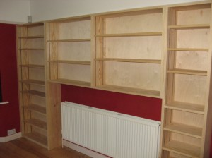 shelves by joiner in southampton capentry