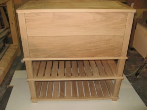 carpenter made Shoe Rack with Drawers