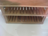 Shoe Rack with Drawers made by a local carpenter