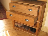 Shoe Rack with Drawers