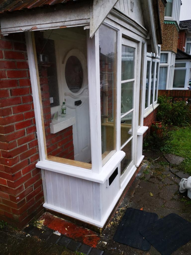 A porch renovated by Southampton Carpentry